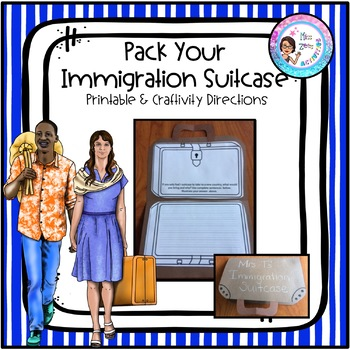 Pack Your Immigration Suit Case Craftivity