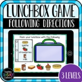 Pack a Lunchbox: Following Directions Boom Cards  (Distanc