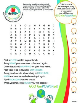 Pack a Reduced Waste Lunch or Snack Kit (primary version)