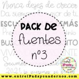 Pack de Fuentes nº3 EIC (EntreiPadsyCuadernos)