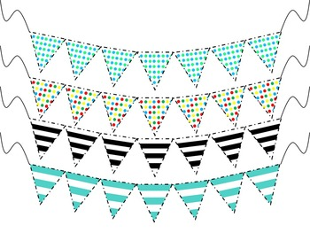 Pack o' Pennants {50 Clipart Pennants Included}