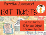 Exit Tickets (Formative Assessment) for Middle School Science