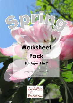 Pack of 9 Spring Worksheets for KS1