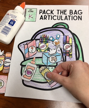 Pack the Bag Articulation! Speech Therapy Craft Activity