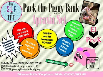 Pack the Piggy Bank Apraxia Set