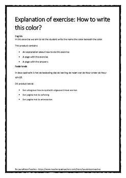 Pack to teach Dutch - Colors