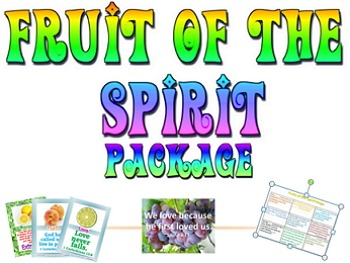 Bundle: Fruit of the Spirit games and bulletin board