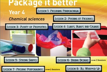 Primary Connections Package It Better-Chem. Science WHOLE TERM'S WORK DONE 4 YOU