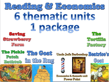 Bundle of 6 thematic book units