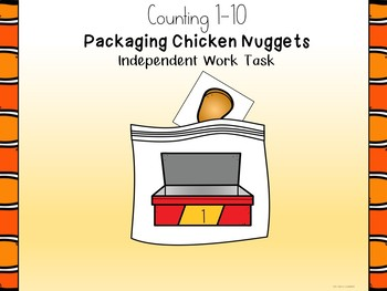 Packaging Chicken Nuggets Numbers 1-10