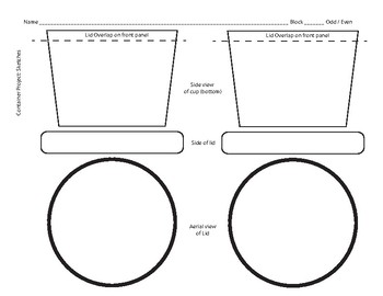 Packaging Design: Empty Container Design Sheet
