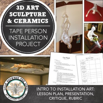 Packaging Tape Person Sculpture: Installation Art Introduction to Sculpture