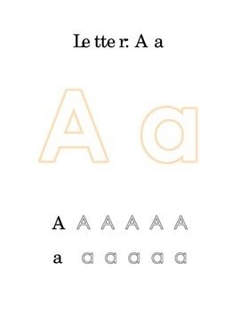 Packet Letter A Color Trace Write Read