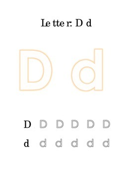 Packet Letter D Color Trace Write Read