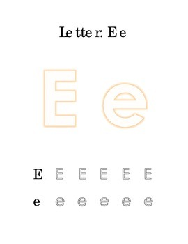 Packet Letter E Color Trace Write Read