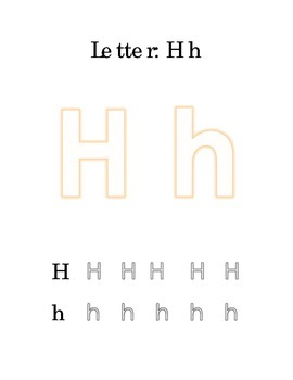 Packet Letter H Color Trace Write Read