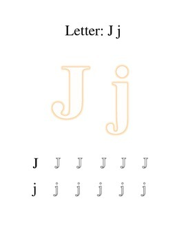 Packet Letter J Color Trace Write Read