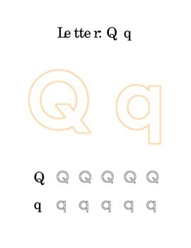 Packet Letter Q Color Trace Write Read