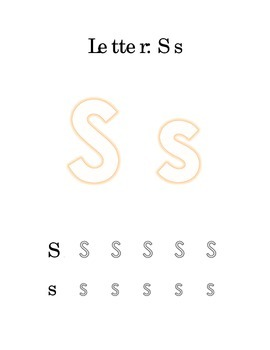 Packet Letter S Color Trace Write Read