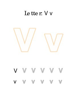 Packet Letter V Color Trace Write Read