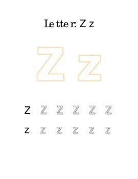 Packet Letter Z Color Trace Write Read