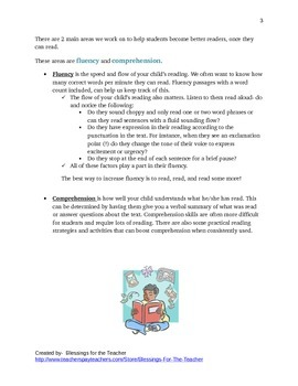 Packet for Increasing Reading Level (Items for Home and School)