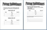 Packet for Back to School Night or Conferences
