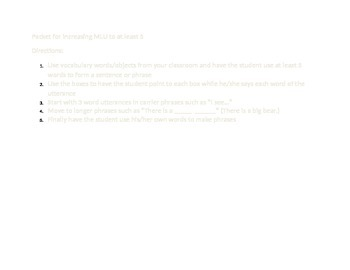 Packet for increasing MLU