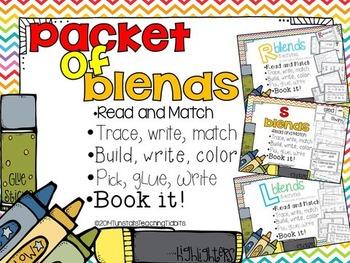 Packet of Blends: s blends, l blends, r blends- Interactive Activities