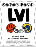 Packet of Engaging Activities for Super Bowl 51 - Will be