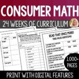 Consumer Math Lesson Bundles Curriculum Packet- High Schoo