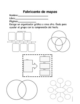 Packet of Literature Circle Jobs and Handouts (Spanish)