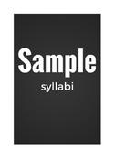 Packet of Sample Syllabi