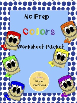 Packet of Worksheets-COLORS