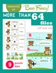 Packet of funny activities with bears, math symbols and puzzles (Commercial use)