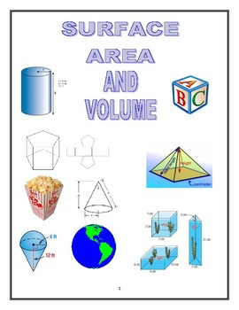 Packet on Surface Area and Volume