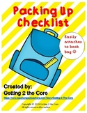 Packing Up Checklist