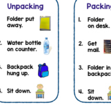 Packing Up/Unpacking daily routine Checklist