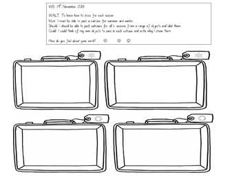 Packing a Suitcase Worksheet