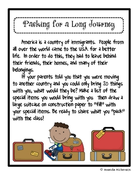 Packing for a Long Journey: A Lesson on Immigration