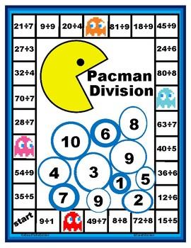 Pacman Basic Fact Division Game