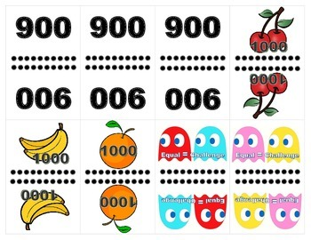 Pacman Big Numbers War: Greater Than, Less Than, Equal To Challenge