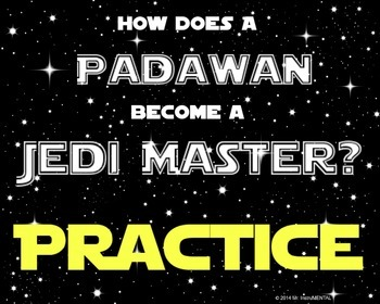 Padawan to Jedi Master with Practice Poster