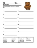 Padding ABC Order Printable With Answer Key