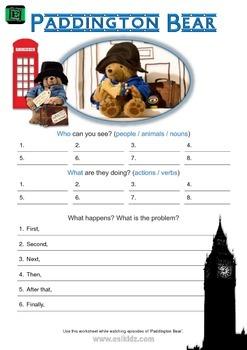 Paddington Bear Episode Worksheet 1675476 on English Worksheets For Kindergarten