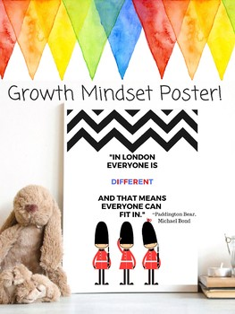 Paddington Bear Growth Mindset Classroom Decor Theme Michael Bond
