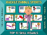 Racket and Paddle Sports- Top 10 Skill Visuals- Simple Lar