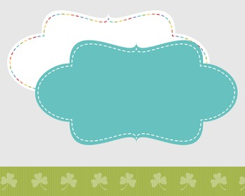 Digital Paper and Frame St. Patrick's Day Mini Set Paddy