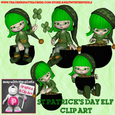 Paddy the St Patrick's Day Elf Clip Art