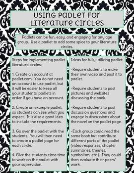 Padlet Literature Circles